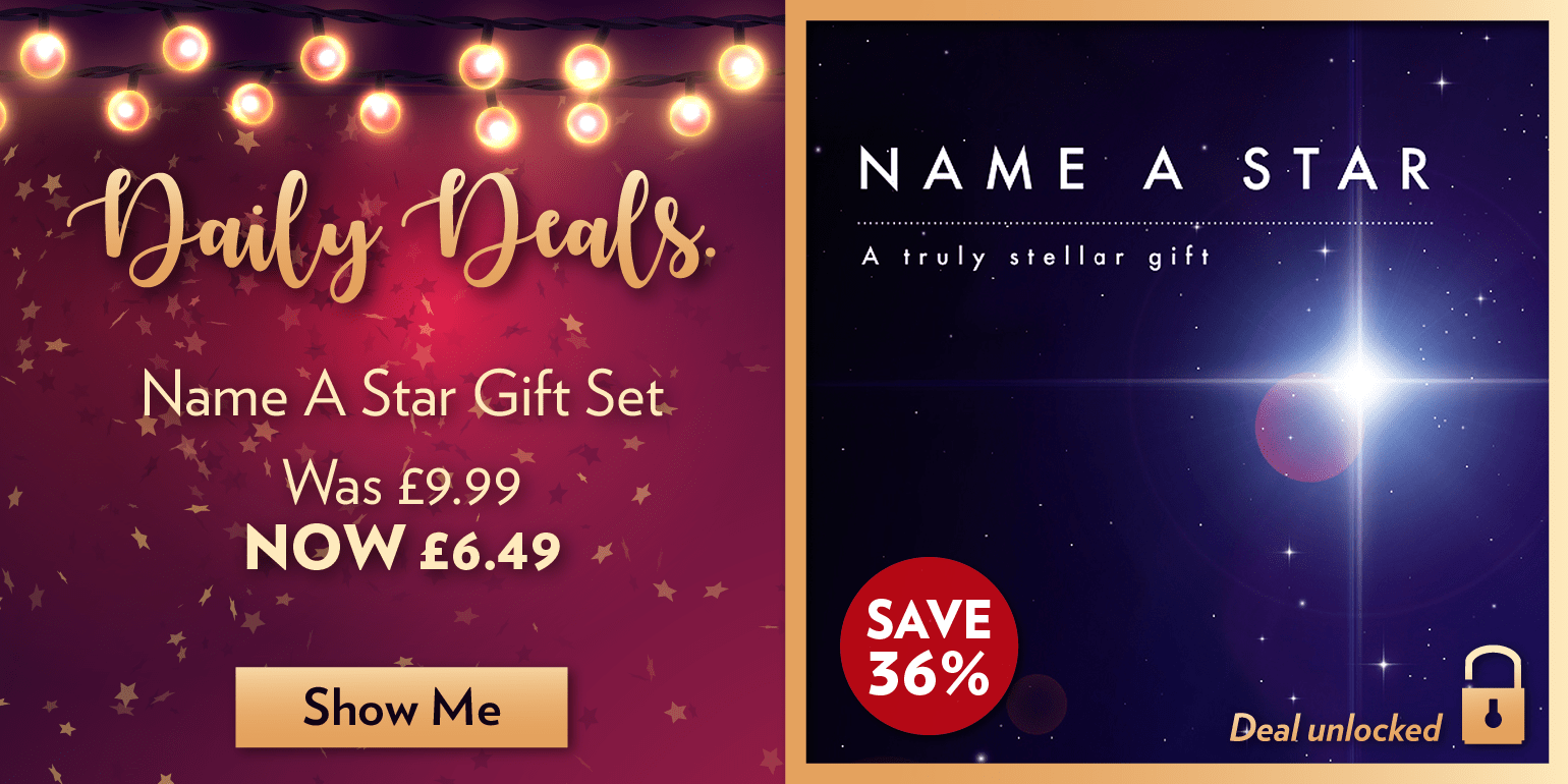 Daily Deal - Save 35.04% on name a star gift set