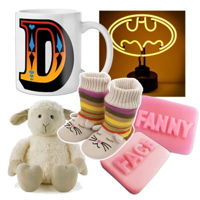 Selection of products sold by Find Me A Gift