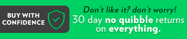 30 day - no quibble returns on everything including personalised items