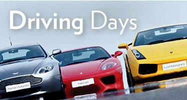 View all of our driving and track day experiences