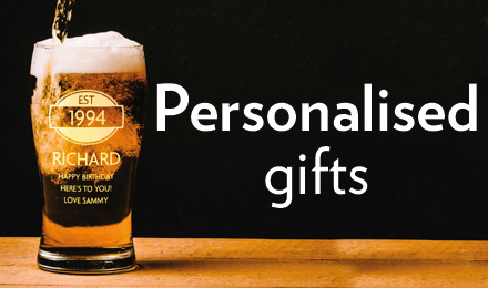 Visit the personalised gifts for men section