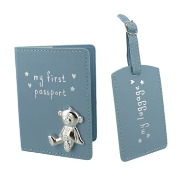 Blue My First Passport & Luggage Tag