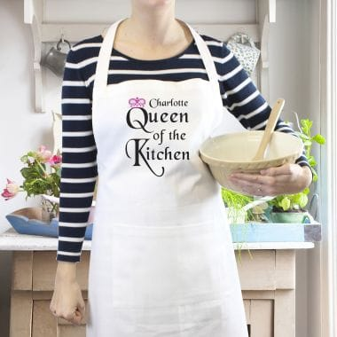 'Queen of the Kitchen' Personalised Apron