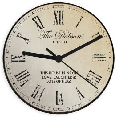 Rustic Design Custom Wall Clock