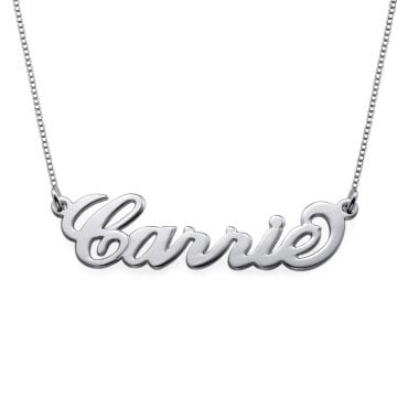 Sterling Silver Personalised Name Necklace - Small