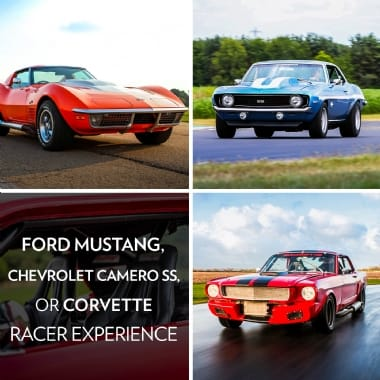 Ford Mustang, Chevrolet Camaro SS or Corvette Racer Experience