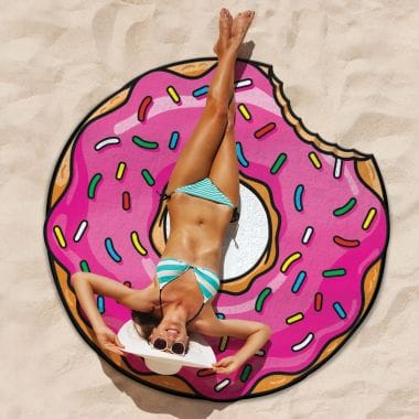Giant Beach Towel - Frosted Donut