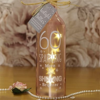 60th Birthday Starlight Bottle
