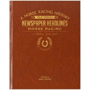 Personalised Book Of Horse Racing History