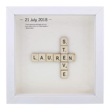 Personalised Wooden Letter Tiles Poster