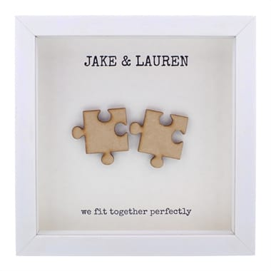 'We Fit Together' Jigsaw Piece Wooden Box Frame