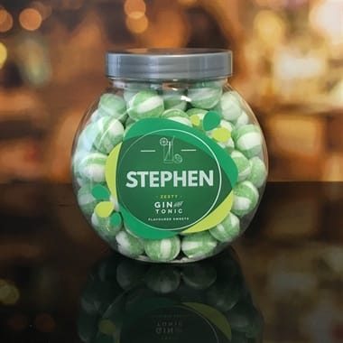 Personalised Gin & Tonic Sweet Jar