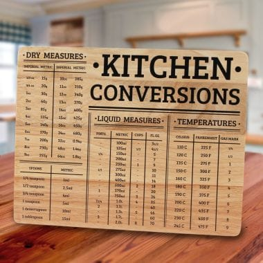 Wood Chopping Board with Kitchen Conversions