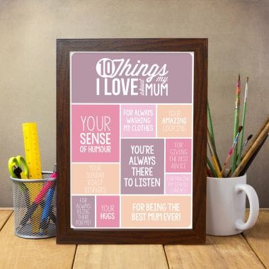 10 Things I Love About My Mum Poster