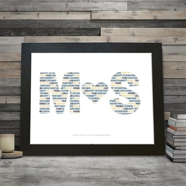 Personalised Couples Letter Poster