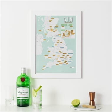 Gin Distillery Scratch Off Map