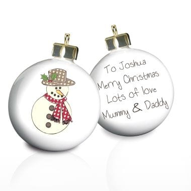 Personalised Snowman Bauble