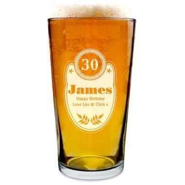 Birthday Personalised Pint Glass