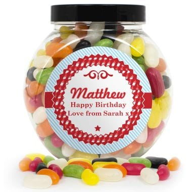 Personalised Retro Jelly Bean Tub