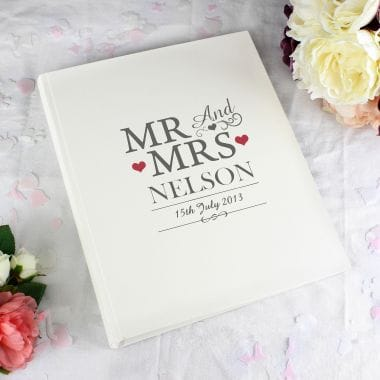 Personalised Mr and Mrs Photo Album