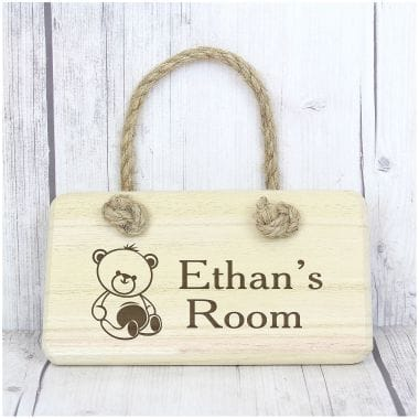 Personalised Wooden Teddy Bear Sign