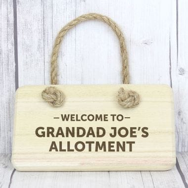 Personalised Wooden Welcome Sign