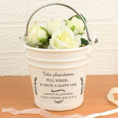 Personalised Porcelain Flower Bucket