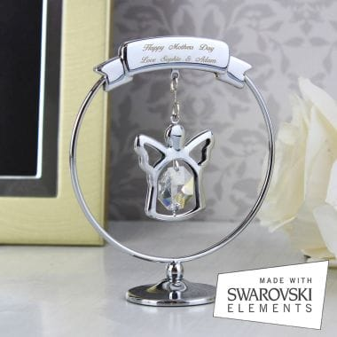 Personalised Crystal Angel Ornament