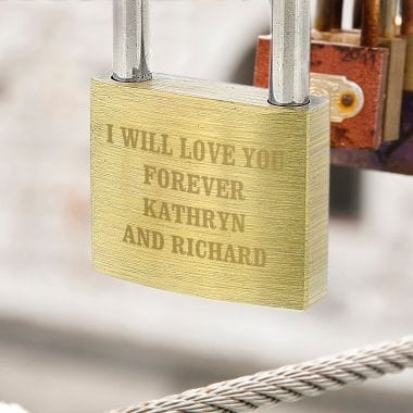 Any Message Personalised Padlock