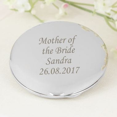 Silver Compact Mirror - Mother of the Bride