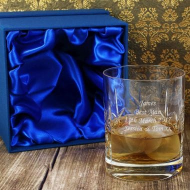 Personalised Best Man Crystal Whisky Glass