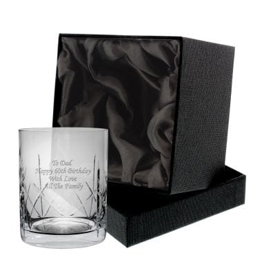 Personalised Whisky Tumbler With Gift Box - For Groom