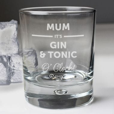 Personalised Its... O' Clock Tumbler Glass for Mum