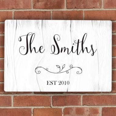 Personalised Rustic Metal Sign