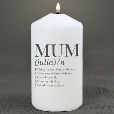 Personalised Mum Definition Candle