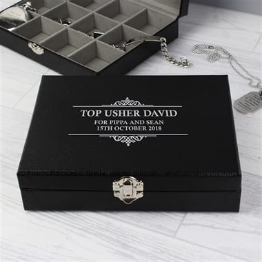 Personalised Cufflink Box With Compartments