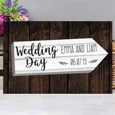 Personalised Wedding Arrow Sign