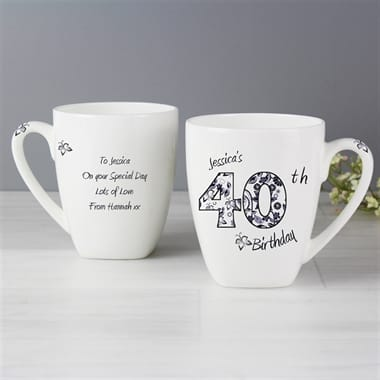 Personalised Pattern And Numbers Mug