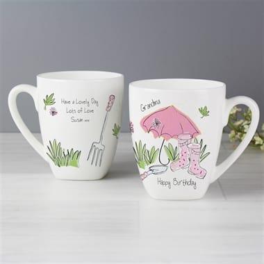 Personalised Pink Umbrella Mug