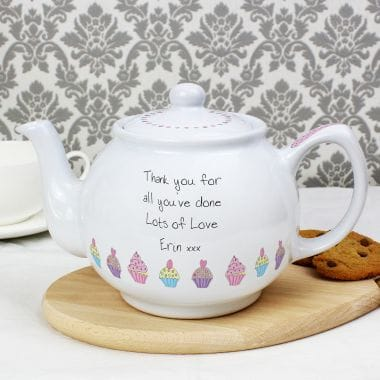 Personalised Cupcake Teapot for One