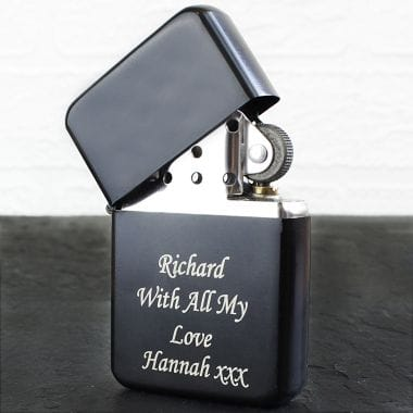Personalised Black Lighter