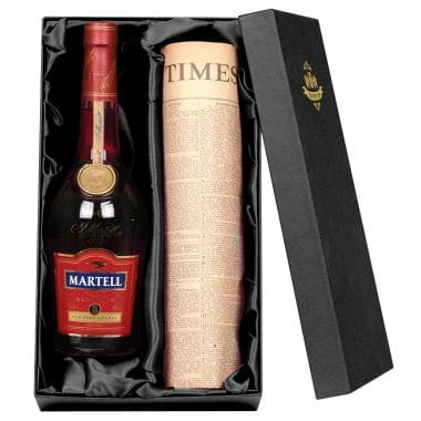 Personalised Martell VSOP Cognac & Newspaper
