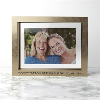 Personalised Metallic Photo Frame (Gold - Contemporary)