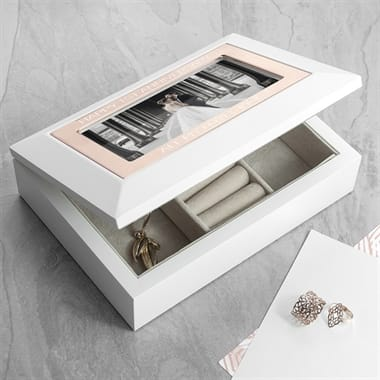 Antique Style Personalised Silver Plated Jewellery Box Fmag