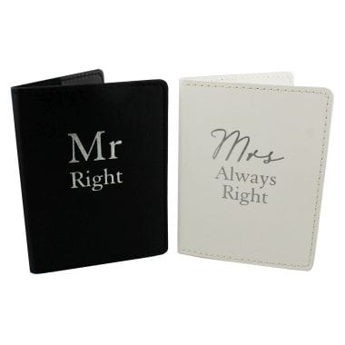 Mr Right and Mrs Always Right Passport Holders