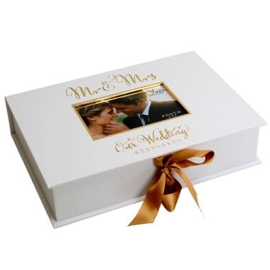 Mr and Mrs Keepsake Box and Photo Frame
