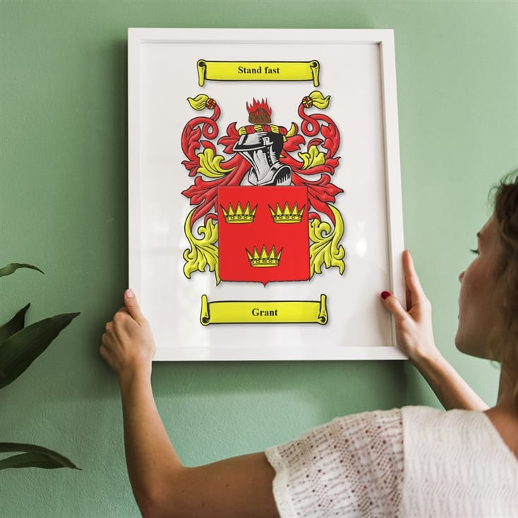 Personalised Coat of Arms Wall Art