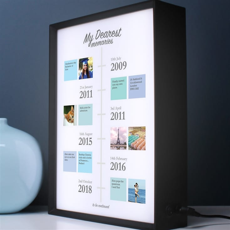 Personalised Our Dearest Memories Lightbox