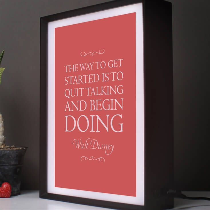 Personalised Favourite Inspirational Quote Lightbox