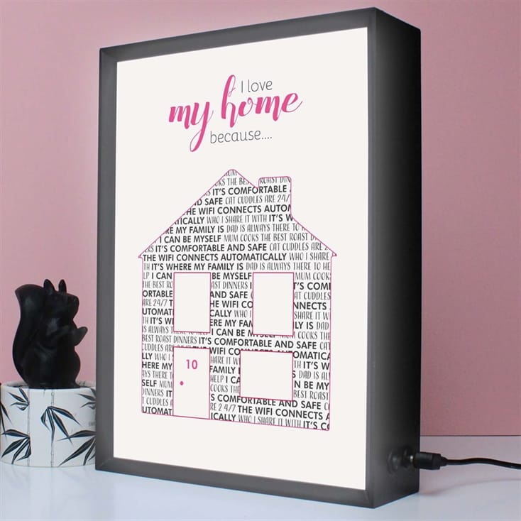 Personalised I Love My Home Because… Gift Voucher